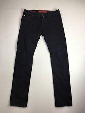 "JACOB COHEN ""Slim Stretch"" Jeans-W33 L34-Scuro Blu Navy Wash-ottime condizioni"