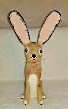 "David Alvarez Jack Rabbit Wood Carved Folk Sculpture Figurine Signed 11"" Tall"