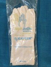 New Vintage Kayser Magic Motion One Size Solid White Gloves Nylon 4708-4 Usa
