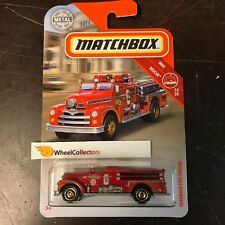 Seagrave Fire Engine * RED * 2019 Matchbox Case K * HD12
