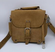 Saddleback Leather Small Leather Bag Satchel Tobacco 10x11x3 With Strap