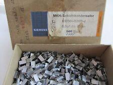 33x SIEMENS 0.01UF 10nF 250V 5% 10mm HI-END (MKT) Uncoated (Silver Caps) Germany
