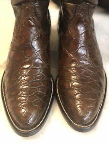 Alligator belly Tony Lama Cowboy Western Boots