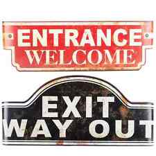HOME THEATER DECOR  ENTERTAINMENT ROOM DECOR / ENTRANCE WELCOME EXIT WAY OUT