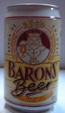 BARON'S BEER (BLANCA) 33CL 4,9%  Lata vacia empty can leere dose lattina vuota
