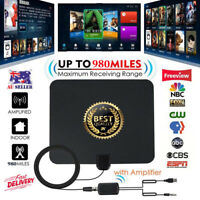TV Antenna Amplifier 980 Mile Range 1080P 4K Indoor Digital HDTV Antena
