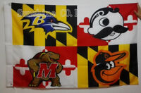 Baltimore Ravens Baltimore Orioles Natty Boh Maryland Terrapins Flag