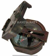 Antique Brass Brunton Surveying Compass Geological Maritime Nautical Compass