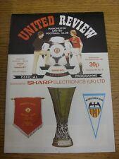 15/09/1982 Manchester United v Valencia [UEFA Cup] [Token: Blank] (slight marked