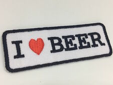 Crafts Sewing Fabric Iron On Patches Sticker Embroidered Appliqués I Love Beer
