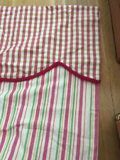 Pair Striped Heavy Cotton Lined Drapes Curtains  36X 109 Pinch Pleated Custom