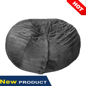 Winter Coral Fleece To Keep Warm Giant Plush Bean Bag Living Room (no Filling)