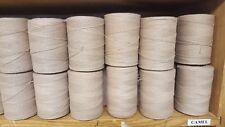 Rug Warp- Lot of 10 (1/2 lb ea.)- Cotton/Polyester Blend- Color Camel