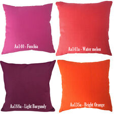 Aa Orange Fuschia Melon Burgundy Cotton Canvas Pillow Case/Cushion Cover*Custom