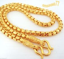 Men's Chain 23K 24K Thai Baht Gold GP Necklace 28 Inch 60 Grams Jewelry N 480