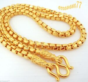 Men's Chain 23K 24K Thai Baht Gold GP Necklace 26 Inch 55 Grams Jewelry N 480