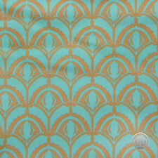 Anna Maria Horner Drawing Room Plume Teal Cotton Fabric by the Bolt