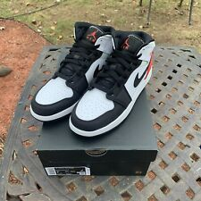 Nike Air Jordan 1 Mid SE White Black Red-Igloo (GS) Size 7Y [ BQ6931-100 ]