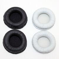 Leather Headphone Ear Pads Cushion for Sennheiser PX200 II Black White