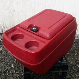1980 - 91 Ford F150 F250 F350 Bronco OEM Center Console RED WITH KEY!!!