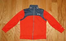 Under Armour Storm Zip Up Jacket Size YMD Orange Gray Loose Fit Boy's UA