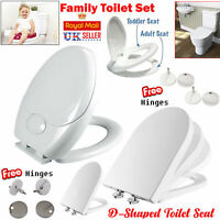 TOILET SEAT LUXURY EASY CLOSE TOP WITH FITTINGS EASY CLEAN UK STANDARD SIZE NEW
