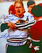 Blackhawks Bobby Hull Signed 8 x 10 Photo w/ HOF '83 Golden Jet - Fanatics Holo