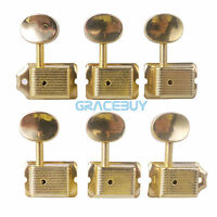 Vintage Electric Guitar Machine Heads String Tuning Pegs Key for Strat Fender 6R