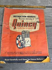 Vintage Quincy Compressors Instruction Manual For Lubrication