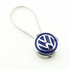 Metal Double Side Steel Wire Rope Keyring Car Logo Key Chain For VW JETTA GOLF