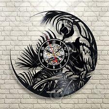 Tropical Parrot Jungle Book Kids Decor Playroom Nursery Art Vinyl Record Clock
