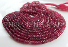 """7"""" half strand shaded PINK TOURMALINE faceted gem stone rondelle beads 4mm ombre"""