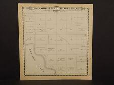 California Tulare County Map Tulare Lake Township 21 Dbl Sd 1892 !W12#54