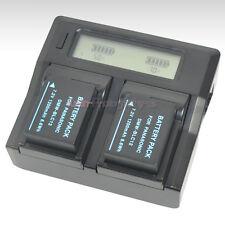 LCD Fast Charger +2x Battery for Panasonic DMW-BLC12 DMC-GX8 DMC-FZ200 DMC-FZ300