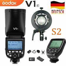 Godox V1F TTL-Blitzgerät mit rundem Blitz+XPRO-F Sender für Fuji+S2 Blitzhalter