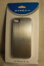 Dynex DX-MA5DB25 Plain Silver Polycarbonate Aluminum Phone Case for iPhone 5/ 5S