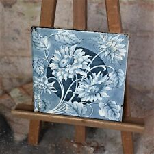Antique Reclaimed 1890s Sherwin & Cotton Tiles Sunflower Staffordshire Two