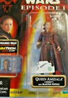 STAR WARS EPISODE 1 QUEEN AMIDALA OF NABOO WITH BLASTER PISTOLS IN THE PACK.