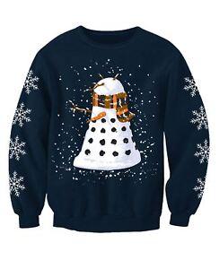 Snowy Dalek Doctor Who Inspired Childrens Christmas Jumper Sweatshirt