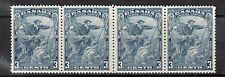 Canada #208iv VF/NH Wide Gutter Strip Of Four