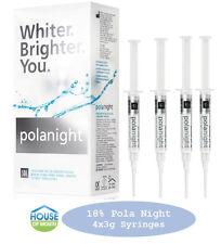 Teeth Whitening/Bleaching Syringes 18% Polanight 4 x 3gram Syringes FREE Bonuses