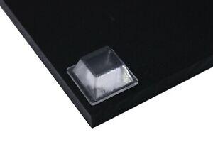 20 x MEDIUM Transparent Square Adhesive Rubber Feet UK STOCK FREE POSTAGE