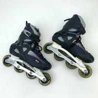 Salomon DR120 Inline Skates Mens Sz 9.5 Power Arch Twin Metal Blue Silver Abec 5