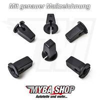 10x Karosserie Clips Tülle Spreiz Mutter für VW Polo Passat Golf ...| 6N0809966A