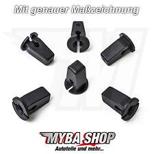 15x Karosserie Clips Tülle Spreizmutter für VW Audi Seat Skoda | 6N0809966A