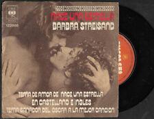 "BARBRA STREISAND  7"" NACE UNA ESTRELLA ARGENTINA PICTURE SLEEVE"