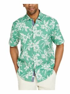 TOMMY BAHAMA Mens Green Floral Collared Shirt XXL
