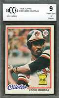 Eddie Murray Rookie Card 1978 Topps #36 Baltimore Orioles BGS BCCG 9