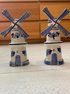 Rynbende brandy windmill By Delftsholland Windmils Set Of 2 Matching Decanters