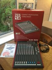 Allen & Heath ZED 14 USB Mixing Desk Audio Interface For Live Sound & Recording